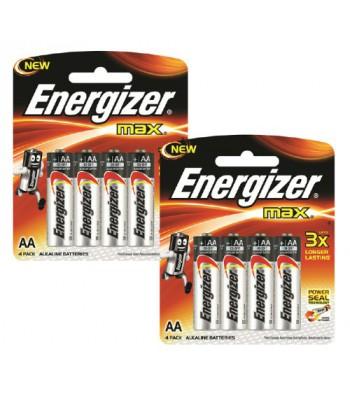 Батерии Energizer MAX 4+4 AA Alkaline Batteries, 1.5V
